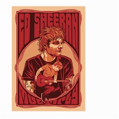 Ed Sheeran Illustrated Tour Poster Large Garden Flag (two Sides)
