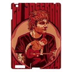 Ed Sheeran Illustrated Tour Poster Apple iPad 3/4 Hardshell Case