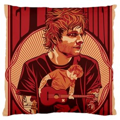 Ed Sheeran Illustrated Tour Poster Large Cushion Case (Two Sides)