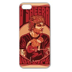 Ed Sheeran Illustrated Tour Poster Apple Seamless iPhone 5 Case (Clear)