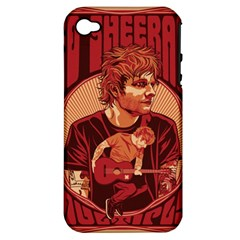Ed Sheeran Illustrated Tour Poster Apple Iphone 4/4s Hardshell Case (pc+silicone)
