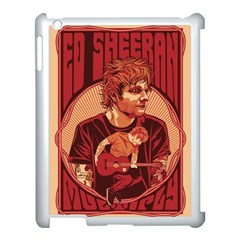 Ed Sheeran Illustrated Tour Poster Apple Ipad 3/4 Case (white)