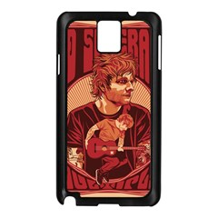 Ed Sheeran Illustrated Tour Poster Samsung Galaxy Note 3 N9005 Case (Black)