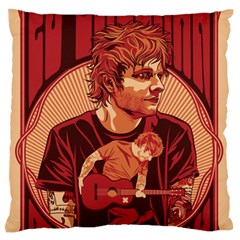 Ed Sheeran Illustrated Tour Poster Standard Flano Cushion Case (Two Sides)