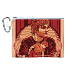 Ed Sheeran Illustrated Tour Poster Canvas Cosmetic Bag (L)