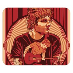 Ed Sheeran Illustrated Tour Poster Double Sided Flano Blanket (Small)
