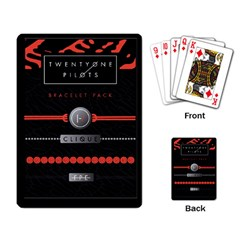 Twenty One Pilots Event Poster Playing Card