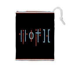 Twenty One Pilots Event Poster Drawstring Pouches (Large)
