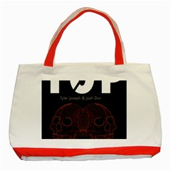 Twenty One Pilots Event Poster Classic Tote Bag (Red)