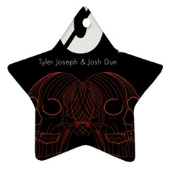 Twenty One Pilots Event Poster Star Ornament (Two Sides)