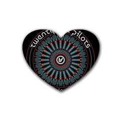 Twenty One Pilots Rubber Coaster (Heart)