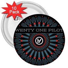 Twenty One Pilots 3  Buttons (10 pack)