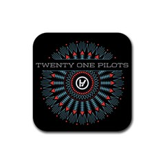 Twenty One Pilots Rubber Square Coaster (4 pack)