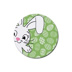 Easter bunny  Rubber Coaster (Round)