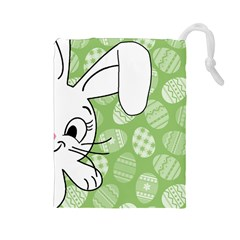 Easter bunny  Drawstring Pouches (Large)