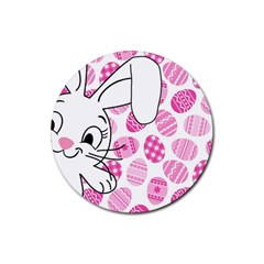 Easter bunny  Rubber Round Coaster (4 pack)