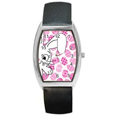 Easter bunny  Barrel Style Metal Watch