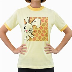 Easter bunny  Women s Fitted Ringer T-Shirts
