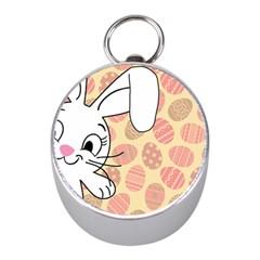 Easter bunny  Mini Silver Compasses
