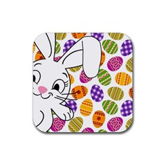 Easter bunny  Rubber Square Coaster (4 pack)
