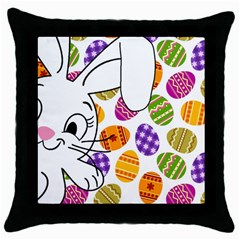 Easter bunny  Throw Pillow Case (Black)