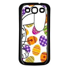 Easter bunny  Samsung Galaxy S3 Back Case (Black)