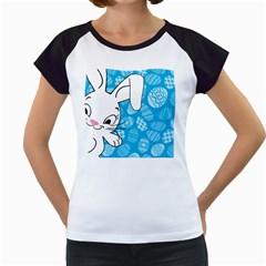 Easter bunny  Women s Cap Sleeve T