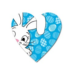 Easter bunny  Heart Magnet