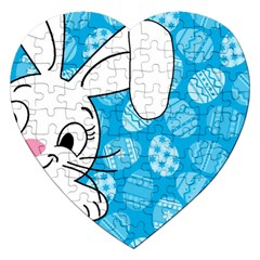 Easter bunny  Jigsaw Puzzle (Heart)