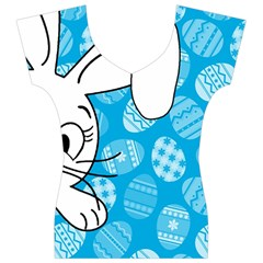 Easter bunny  Women s V-Neck Cap Sleeve Top