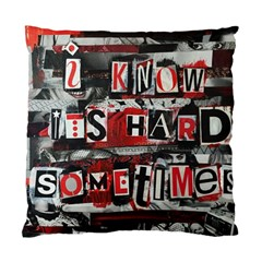 Top Lyrics Twenty One Pilots The Run And Boys Standard Cushion Case (one Side)