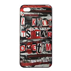 Top Lyrics Twenty One Pilots The Run And Boys Apple iPhone 4/4s Seamless Case (Black)