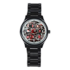 Top Lyrics Twenty One Pilots The Run And Boys Stainless Steel Round Watch