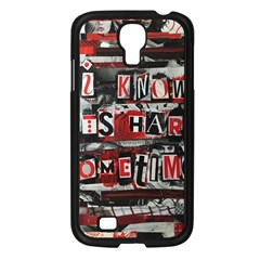 Top Lyrics Twenty One Pilots The Run And Boys Samsung Galaxy S4 I9500/ I9505 Case (Black)