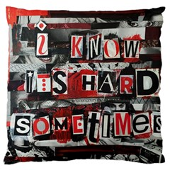 Top Lyrics Twenty One Pilots The Run And Boys Large Flano Cushion Case (One Side)