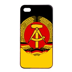 Flag of East Germany Apple iPhone 4/4s Seamless Case (Black)