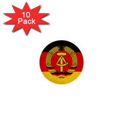 Flag of East Germany 1  Mini Buttons (10 pack)