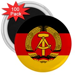 Flag of East Germany 3  Magnets (100 pack)