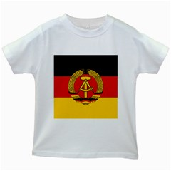Flag of East Germany Kids White T-Shirts