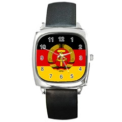 Flag of East Germany Square Metal Watch