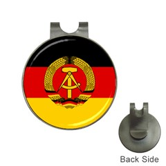 Flag of East Germany Hat Clips with Golf Markers