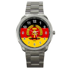 Flag of East Germany Sport Metal Watch