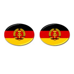Flag of East Germany Cufflinks (Oval)