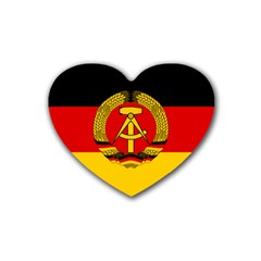 Flag of East Germany Heart Coaster (4 pack)