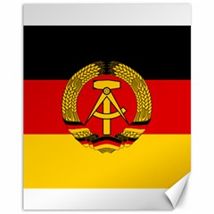 Flag of East Germany Canvas 11  x 14