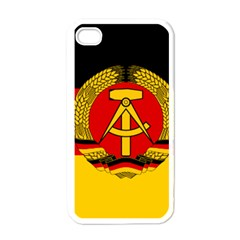 Flag of East Germany Apple iPhone 4 Case (White)