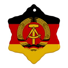 Flag of East Germany Snowflake Ornament (Two Sides)