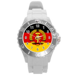 Flag of East Germany Round Plastic Sport Watch (L)