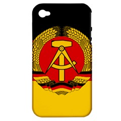 Flag of East Germany Apple iPhone 4/4S Hardshell Case (PC+Silicone)