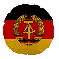 Flag of East Germany Large 18  Premium Round Cushions